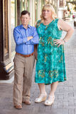 Transgender couple with skeptical expression Royalty Free Stock Photography