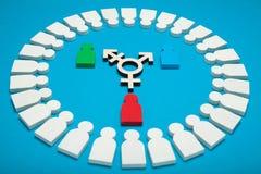Transgender diversity, intersex activism. Bisexuality concept stock image