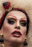 Transgender elaboradamente vestido, durante Christopher Street Day P Imagem de Stock Royalty Free