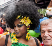 Transgender during gay pride dressed brazilian style Stock Images