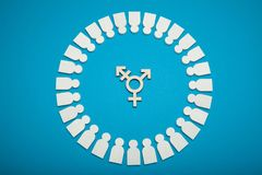 Transgender, LGBT, gender diversity. Genderless identity concept. Transsexual civil person stock photography