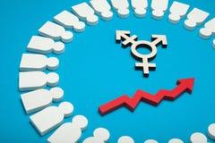 Transgender, LGBT, gender diversity. Genderless identity concept. Transsexual civil person royalty free stock image
