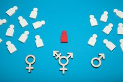 Transgender and LGBT rights, transsexual and bisexual.  stock photos