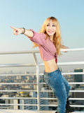 Transgender model on rooftop Royalty Free Stock Photo