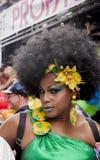 Transgender podczas homoseksualnej dumy ubierającego brazylijskiego stylu zdjęcie stock