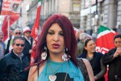 Transgender portrait Stock Image