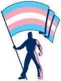 Transgender Pride Flag Bearer Royaltyfri Bild