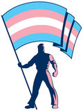 Transgender Pride Flag Bearer Royalty Free Stock Image