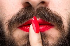 Transgender`s Mouth Royalty Free Stock Image