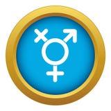 Transgender sign icon blue vector isolated. On white background for any design stock illustration