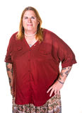 Transgenderkvinna i pärlemorfärg halsband Royaltyfria Foton