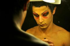 Transgenderman, tabùbegrepp   Royaltyfria Bilder