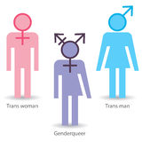 Transgendersymboler stock illustrationer