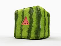 Transgenic watermelon  with triangular cut. For taste -digital artwork Royalty Free Stock Photos