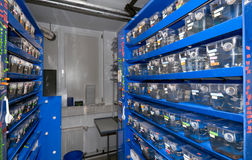 Transgenic zebrafish facility. In German research institute Royalty Free Stock Photos