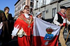Transhumance à Madrid - en Espagne Photographie stock