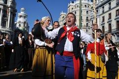 Transhumance à Madrid - en Espagne Photo libre de droits