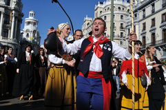 Transhumance in Madrid - Spanje Royalty-vrije Stock Foto