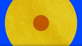 A transição colorida do círculo Animação colorida dos gráficos do movimento que caracteriza círculos da dinâmica fotografia de stock