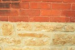 Transição da fundação do tijolo Fotografia de Stock Royalty Free