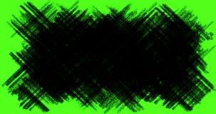 A transição desenhado à mão dos garranchos, as garatujas e os efeitos do esboço com cor preta escrevem no fundo de tela do verde  ilustração royalty free