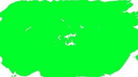 Transição do rasgo Tela verde ilustração royalty free