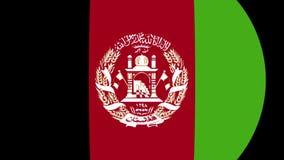 Transição 4K da bandeira de Afeganistão video estoque