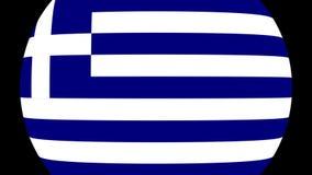 Transição 4K da bandeira de Grécia video estoque