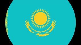 Transição 4K da bandeira de Kazakhistan video estoque
