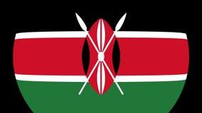 Transição 4K da bandeira de Kenya video estoque