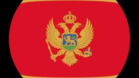 Transição 4K da bandeira de Montenegro video estoque