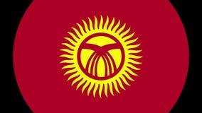 Transição 4K da bandeira de Quirguizistão filme