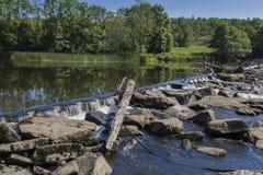 Transição no rio Viskan, Suécia Fotografia de Stock Royalty Free