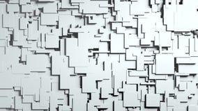 Transición blanco y negro del trapo de la pantalla de los cubos ilustración del vector