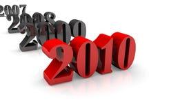Transición de 2009 a 2010 Imágenes de archivo libres de regalías