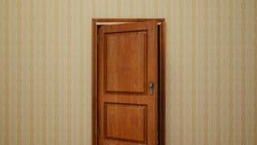 Transición de madera residencial de la puerta ilustración del vector