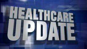 Transición y fondo dinámicos de la actualización de la atención sanitaria almacen de video