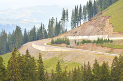 Transient highway in mountain Royalty Free Stock Images