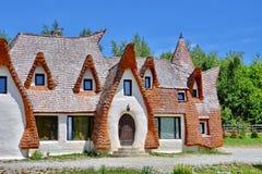 A Transilvânia Clay Castle em Romênia imagens de stock