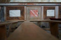 Transilvania Viscri fortificó la iglesia 1000 años, madera vieja Foto de archivo