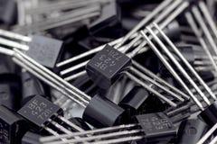 Transistor. Stack of transistors close up photo Stock Image
