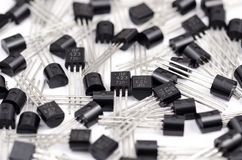 Transistor. Bipolar transistors batch. Close up photo Royalty Free Stock Photo