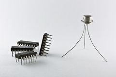 Transistor and chips Stock Photography