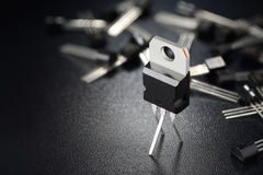 Transistor de poder preto imagens de stock royalty free