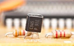 Transistor e microplaqueta fotos de stock
