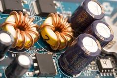 Transistor em uma cópia do computador fotografia de stock
