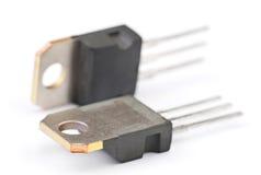 Transistor modernos do semicondutor fotografia de stock