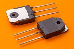 Transistor nella busta SOT199 Fotografia Stock Libera da Diritti