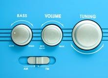 Transistor radio button Stock Photography