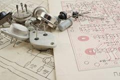 Transistor sovietici d'annata Fotografie Stock Libere da Diritti